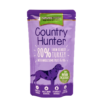 Natures Menu Country Hunter Turkey Pouches Dog Food 6 x 150g