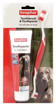 Beaphar Toothbrush and Toothpaste Kit - Dog