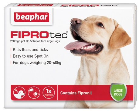 Beaphar FIPROtec Spot On Vet strength for Large Dogs 3 Treatment