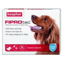 Beaphar FIPROtec Spot On Vet Strength for Medium Dogs 6 Treatment