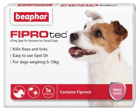 Beaphar FIPROtec Spot On Vet Strength for Small Dogs 3 Treatment