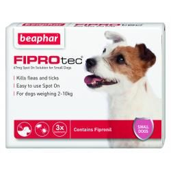Beaphar FIPROtec Spot On Vet Strength for Small Dogs 6 Treatment