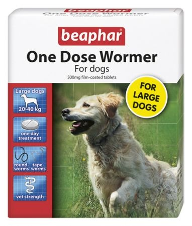 Beaphar One Dose Wormer Large Dogs 4 Tablets