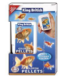 King British Goldfish Easy Clicker Pellets  Feeder