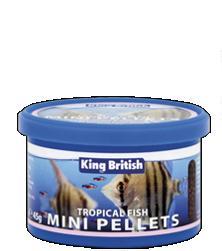 King British Tropical Fish Mini Pellet Food 45g