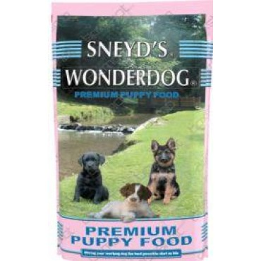 Sneyd's Wonderdog Dog Food - Puppy & Junior Dry - 2 x 10kg Dog Food inclusi