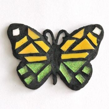 small yellow and green butterfly