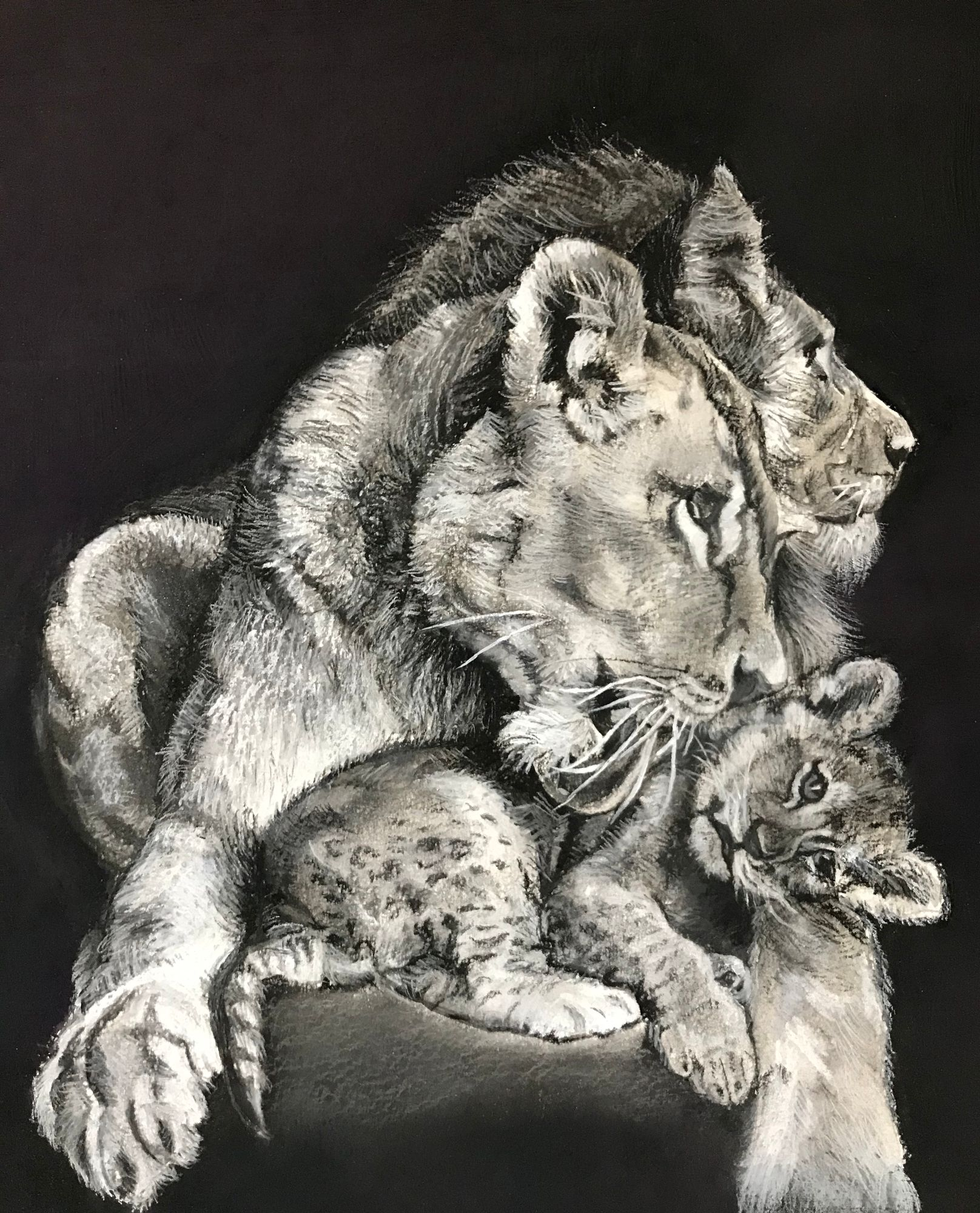 lion_family_painting