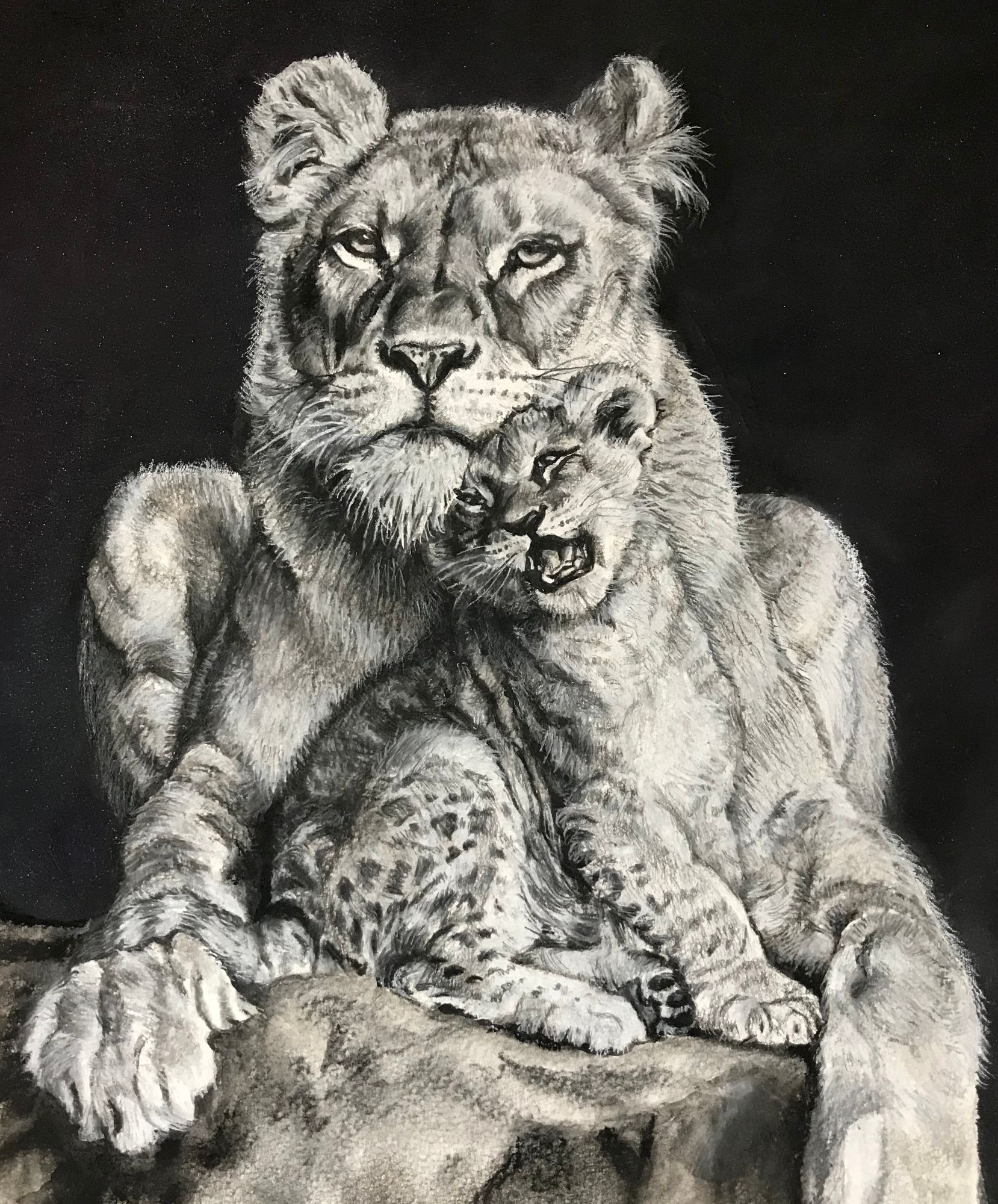 lioness_and_cub_painting
