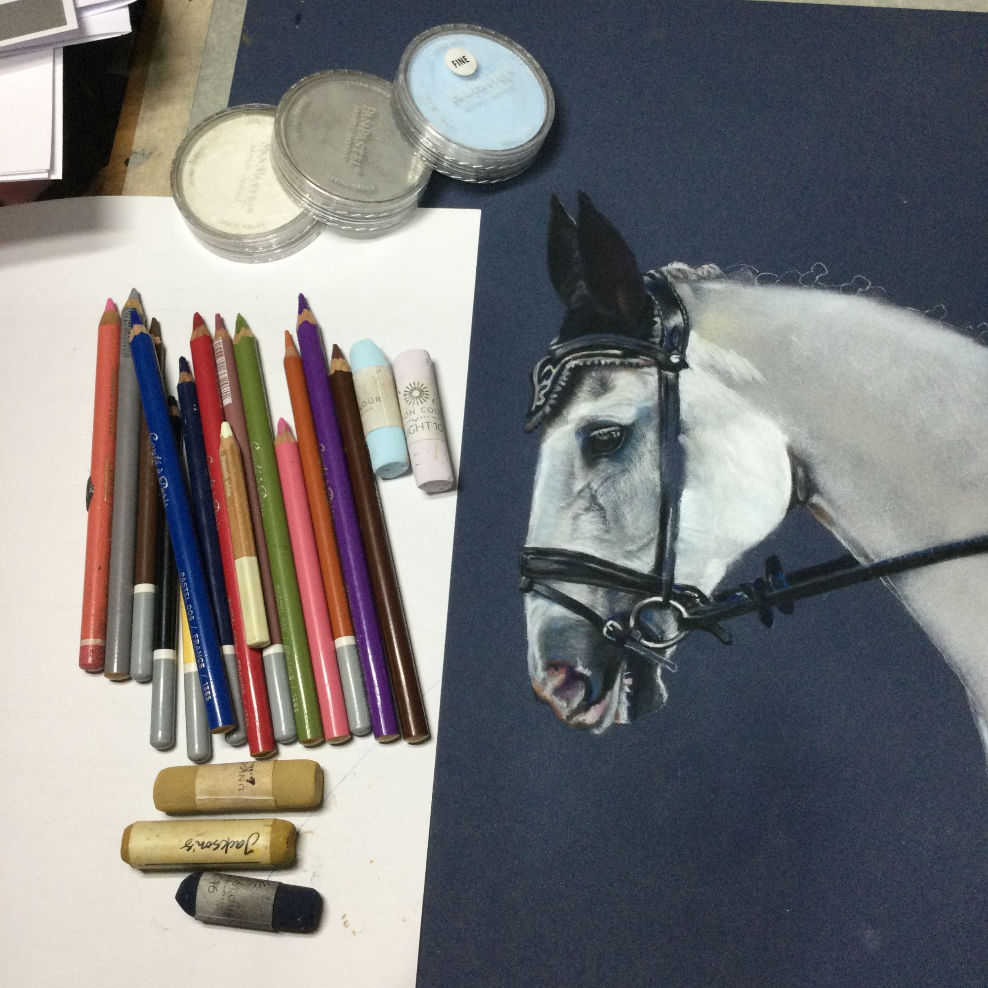 Horse painting from photo