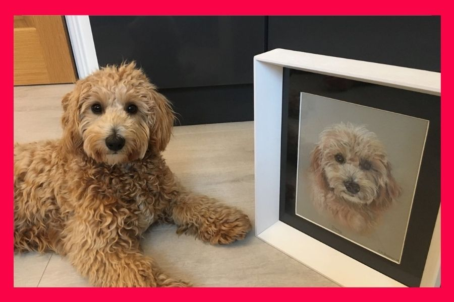Dog paintings from photos