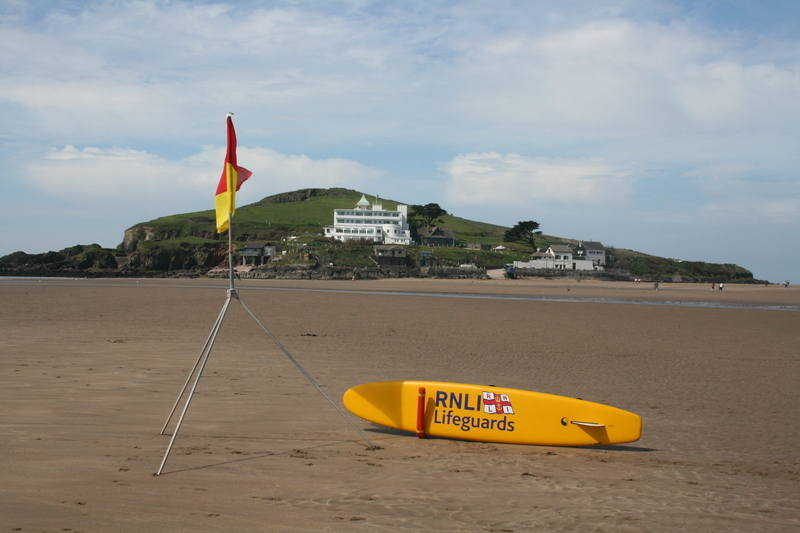 Lifeguarded beach