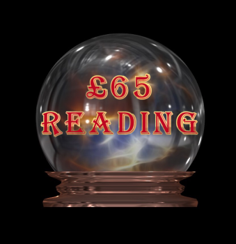 "£65 Reading - Your payment for four reading options to be chosen from ""My Services"" page. Includes Tarot as one of the options."