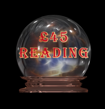 "£45 Reading - Your payment for two reading options to be chosen from ""My Services"" page. Includes Tarot as one of the options."