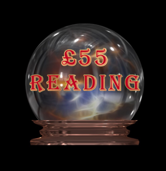 "£55 Reading - Your payment for three reading options to be chosen from ""My Services"" page. Includes Tarot as one of the options."