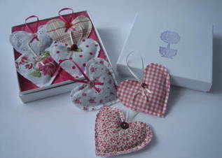 Set of 4 Hanging Hearts