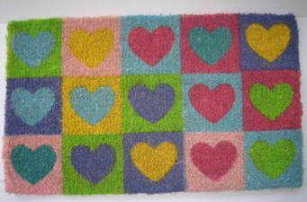 Hearts Door Mat