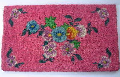 Pink 'Russian Folk Art' Door Mat