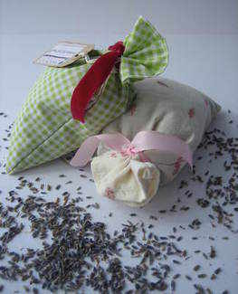 Green Gingham Lavender Bags