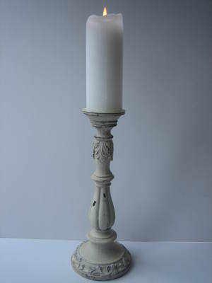 Antique Cream Candle Stick Suitable for 6.5 cm Dia Pillar Candle