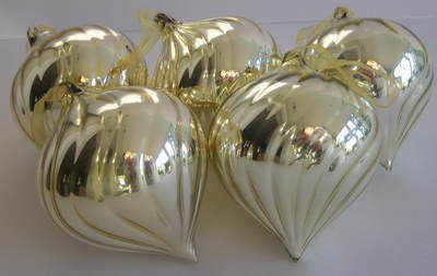 Large Gold Glass Christmas Bauble