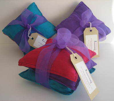 Handmade Pure Silk Taffeta Pillow Bundle