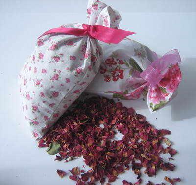 Vintage Pink Rosebud Cotton Potpourri Bag