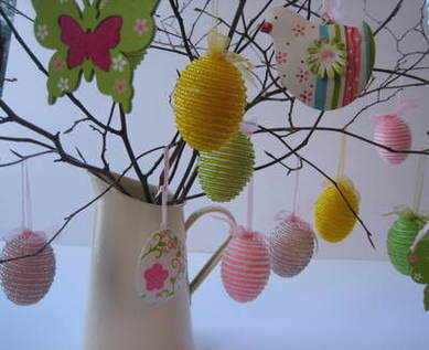 Beaded Decorative Eggs