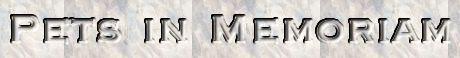 Pets in Memoriam, site logo.