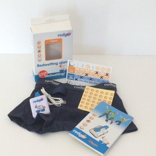 d) BOYS NAVY BOXER SHORT Rodger CLIPPO Alarm System - Special Rodger Underwear Sensor Kit