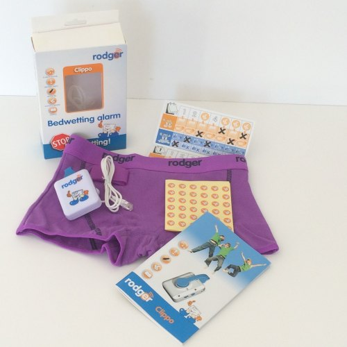 d) GIRLS LILAC HIPSTER Rodger CLIPPO Alarm System - Special Rodger Underwear Sensor Kit