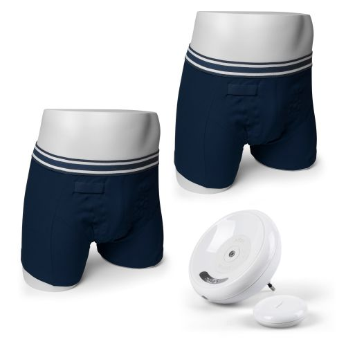 1. BOYS NAVY BOXER SHORT - UK Version Complete Latest 8 Tone Rodger Wireless Bedwetting Alarm System