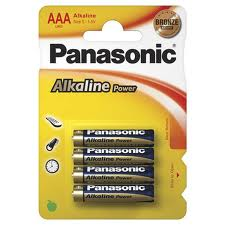 c) 4 x AAA Batteries for use in the Rodger CLIPPO Alarm