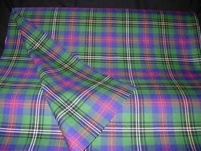 Heavyweight  ClanTartan Cloth - double width (price per metre)