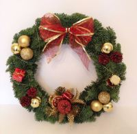Luxury Fresh Modern Christmas Wreath - from £18.00 with FREE local delivery