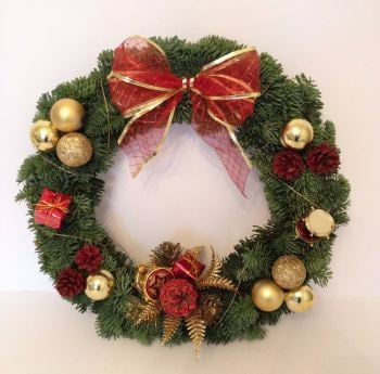 Luxury Fresh Modern Christmas Wreath - from £19.00 with FREE* local delivery