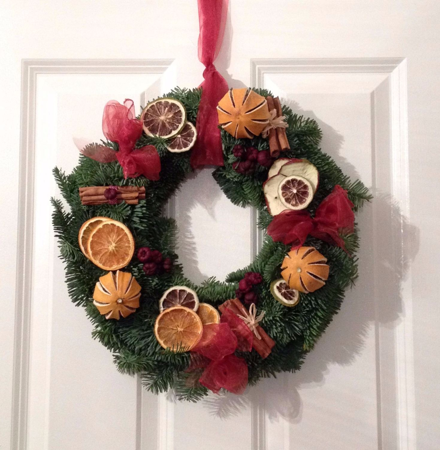 Fresh Christmas Wreaths.Traditional Fresh Christmas Wreath From 19 00 With Free Local Delivery