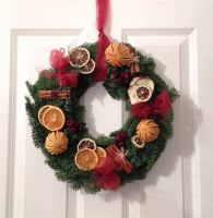 Traditional Fresh Christmas Wreath - from £18.00 with FREE local Delivery
