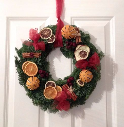 Traditional Fresh Christmas Wreath