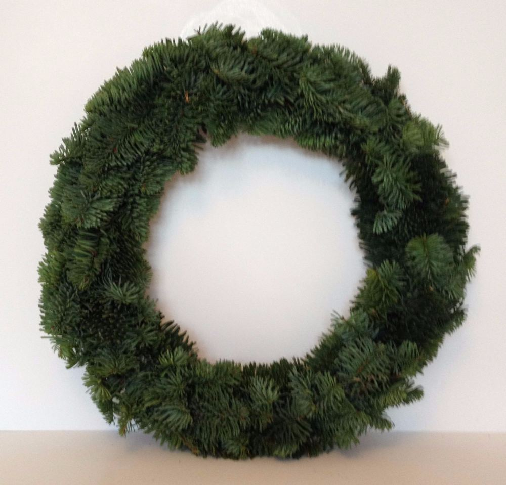 Undressed Fresh Christmas Wreath
