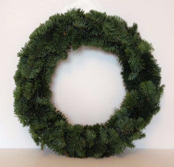 Undressed Fresh Christmas Wreath