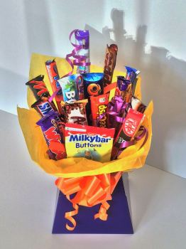 Chocolate Bar Bouquet - favourite sweets in a bouquet - available in Standard (as shown), Large or Super Size