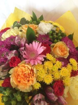 Get Well Soon cheerful flower bouquet