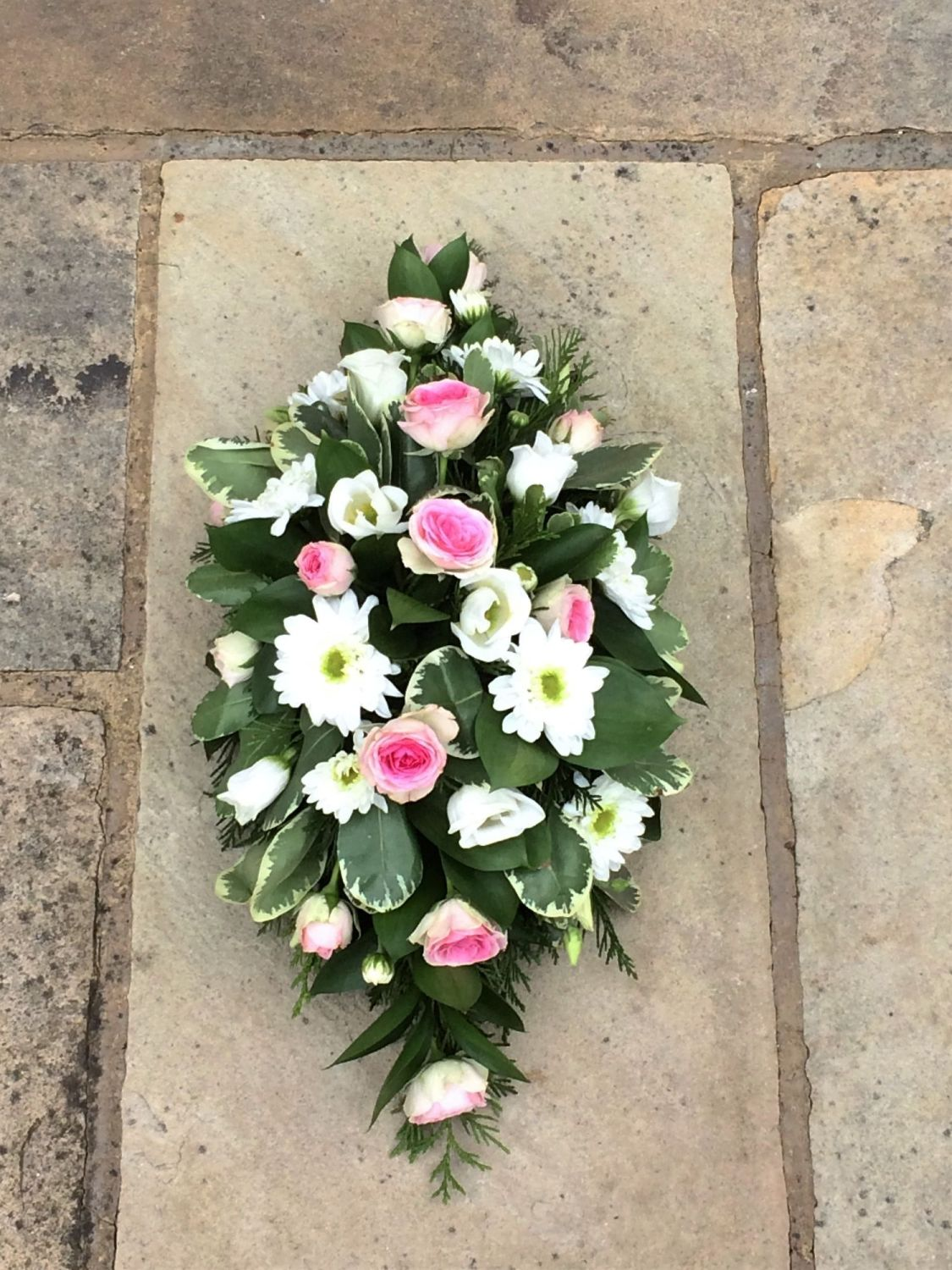 Child baby coffin double ended funeral spray flowers white calla child baby coffin double ended funeral spray flowers white calla lily willow house flowers funeral florist izmirmasajfo