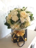 White rose fresh flower bouquet - FREE delivery within Aylesbury, surrounding towns and villages