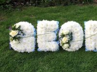 2. Funeral tribute Letters / Name - choice of colours available - £35.00 per letter