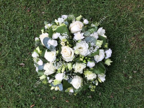 Classic loose open design funeral posy pad - available in a choice of colou