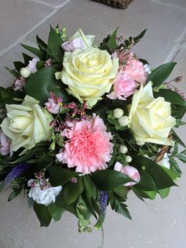 Sympathy Basket - choice of colour presented in a wicker basket - £25.00