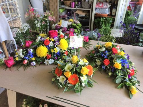 Spring colours Remembrance tribute posy - perfect for placing on a grave or