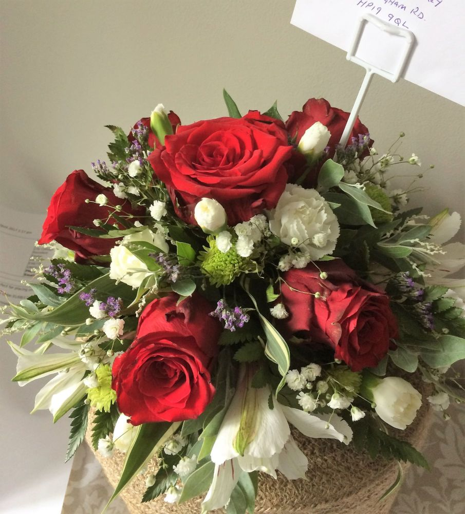 Remembrance tribute posy - perfect for placing on a grave or in a Remembran